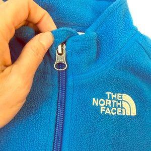 NF fleece 1/4 zipped up polo shirt.